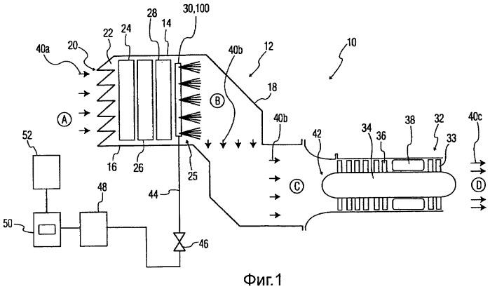 Система распыления, система увеличения мощности для двигателя, содержащая систему распыления, и способ увлажнения воздуха