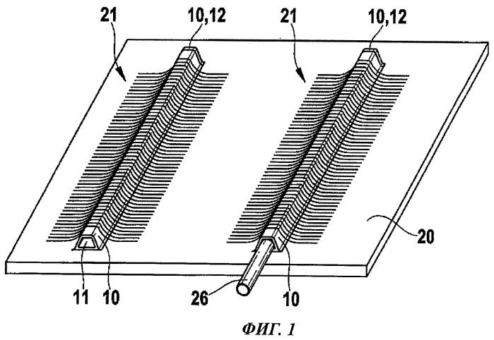 Соединительное устройство для формовочного стержня, используемого для изготовления конструктивного компонента из армированного волокнами композиционного материала, предназначенного, в частности, для авиакосмической промышленности