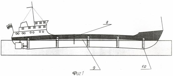 Способ правки перегиба корпуса судна