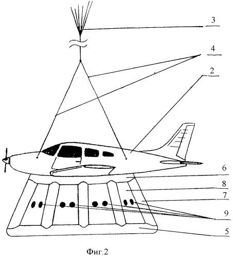 Быстродействующая система амортизации для аварийного приземления летательного аппарата