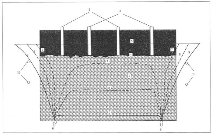 Способ извлечения редких металлов из золошлаковых масс отработанного подземного газогенератора
