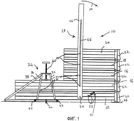 Способ и устройство формирования лестницы