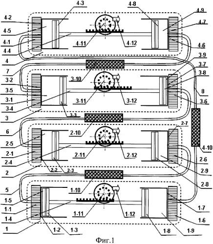 Энергоустановка с оппозитным двигателем стирлинга