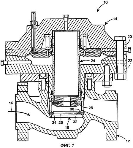 Кольцо седла клапана, ограничивающее поток в регуляторах давления