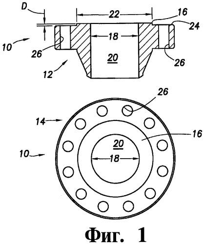 Способ и устройство кольцевого уплотнения фланцев (варианты)