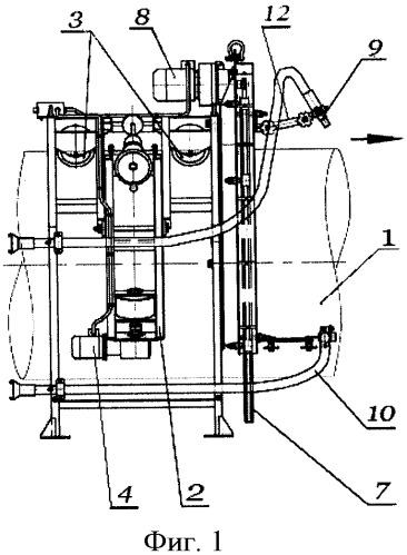 Способ нанесения изоляционного покрытия на наружную поверхность трубопровода и устройства для его осуществления