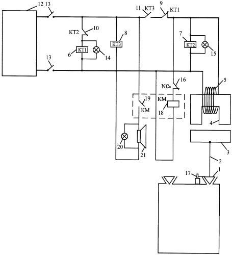 Устройство автоматического управления предохранительным клапаном котла