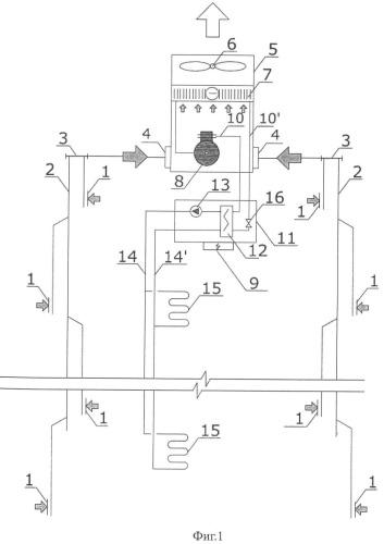 Система вентиляции и отопления ванных помещений в многоэтажных домах