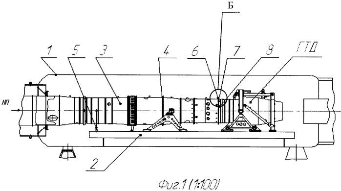 Термогермокомпенсатор входного устройства гтд при высотных испытаниях в термобарокамере с присоединенным трубопроводом