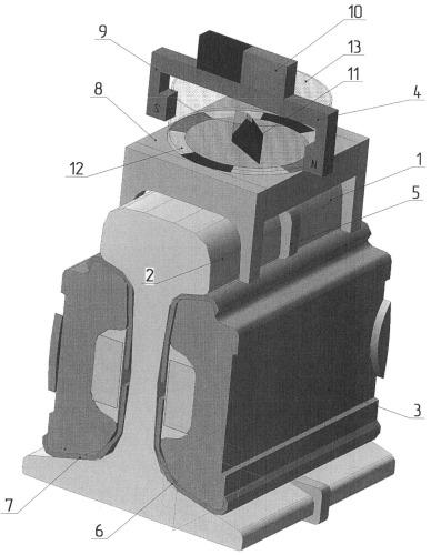 Устройство для контроля самонамагничивания рельсового изолирующего стыка
