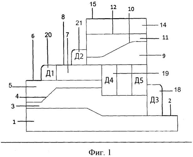 Полупроводниковая структура логического элемента и-не