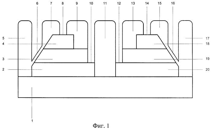Полупроводниковая структура инвертора