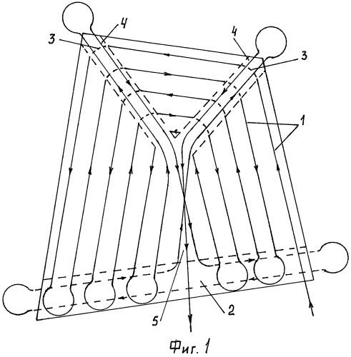 Способ движения агрегата при обработке почвы на полях произвольной четырехугольной формы