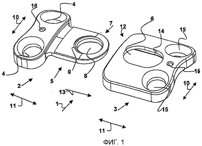 Пластинчатый имплантат, в частности для использования в позвоночнике