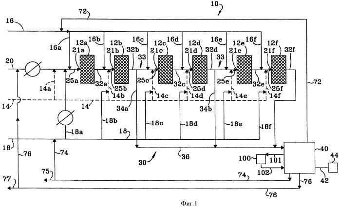 Реакторная установка с извлечением промежуточного продукта