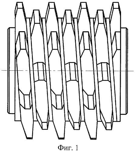 Червячная однозаходная фреза для нарезания зубчатых деталей
