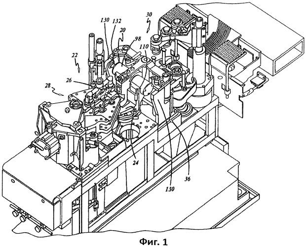 Инверсный механизм машины для формирования изделий из стекла