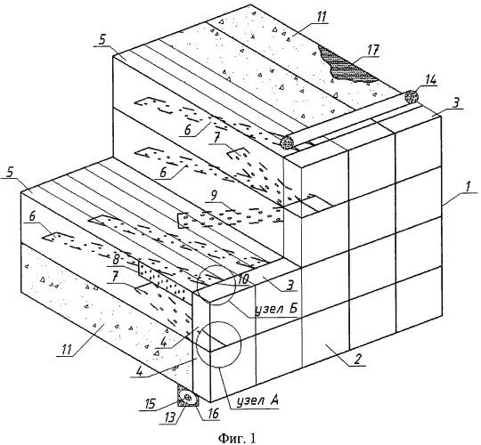 Грунтоармированное сооружение и способ его возведения