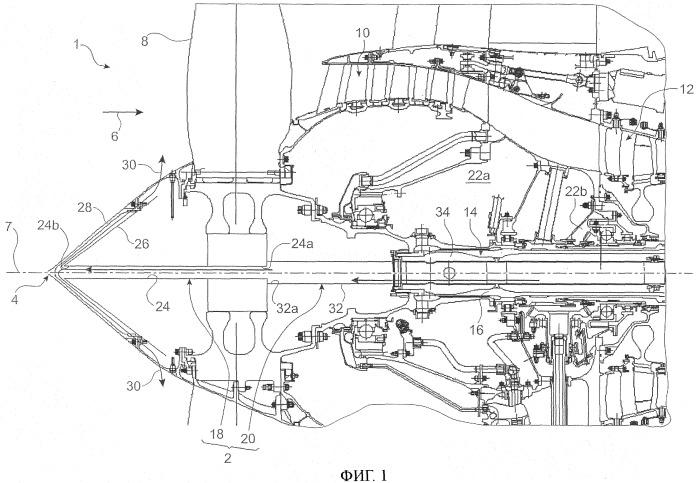 Противообледенительная система входного конуса авиационного газотурбинного двигателя