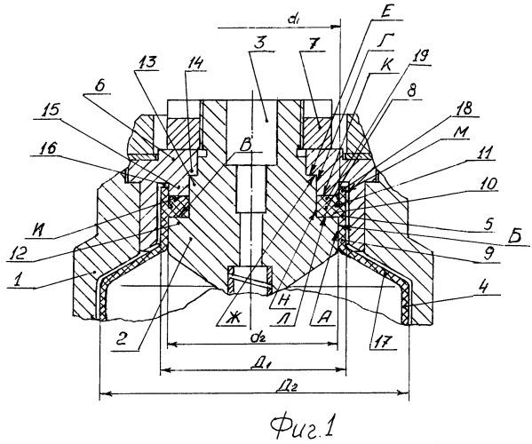 Уплотнение горловины оболочки из упруго-эластичного материала