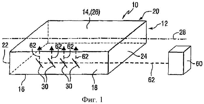 Индикаторная панель с индуцированными лазером элементами, перенаправляющими излучение