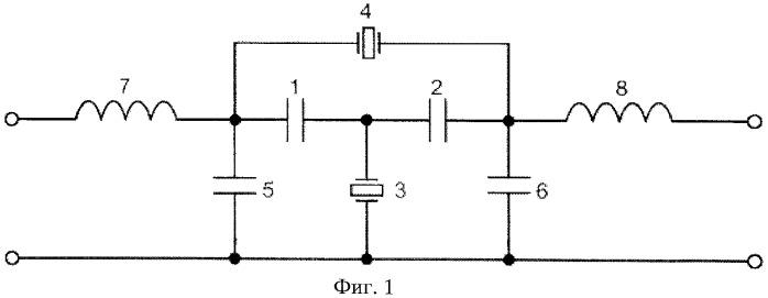 Полосовой пьезоэлектрический фильтр