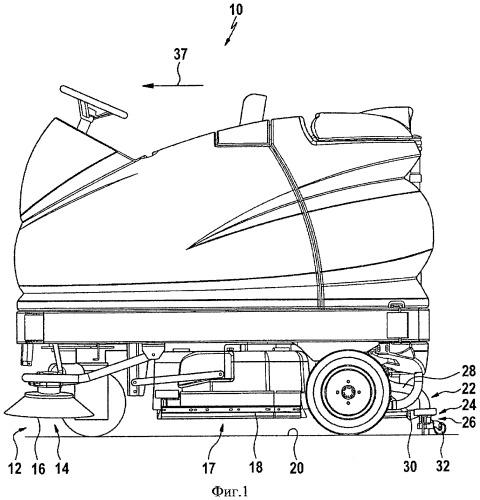 Грязезахватывающее устройство для машины для уборки пола, а также машина для уборки пола с таким грязезахватывающим устройством