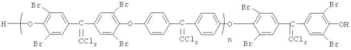 Галогенсодержащие простые ароматические олигоэфиры