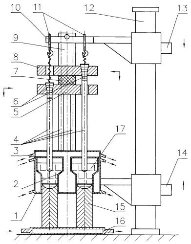 Установка для электрошлаковой выплавки полых слитков