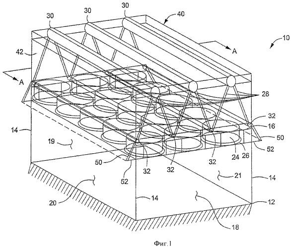 Направляющая потока воздуха для конденсатора с воздушным охлаждением
