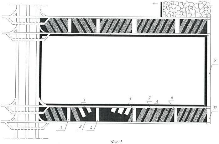 Способ разработки пластов средней и малой мощности системой разработки длинными столбами по простиранию с оставлением породы в шахте
