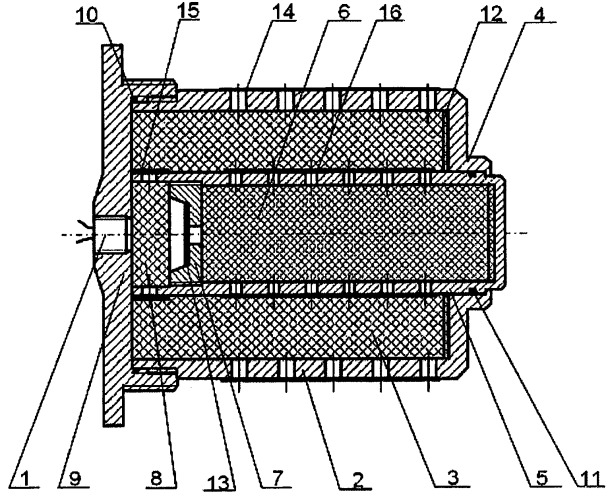 Воспламенительное устройство зарядов ракетных двигателей твердого топлива