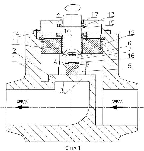 Разгруженный дисковый клапан