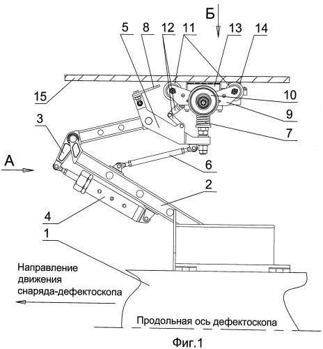 Механизм крепления датчика к корпусу внутритрубного снаряда-дефектоскопа