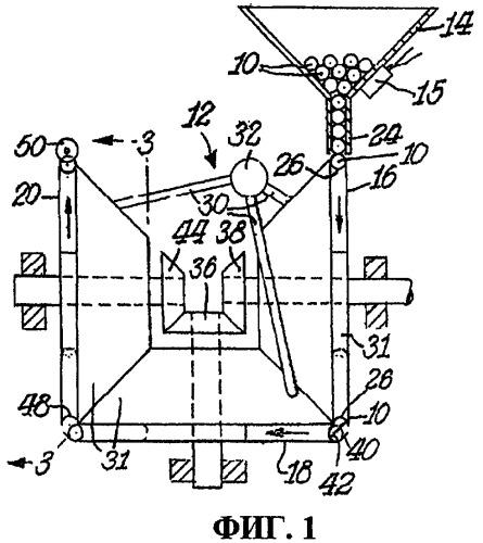 Устройство и способ перемещения компонентов табачных изделий