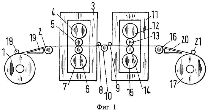 Прокатная установка для формирования катаной полосы