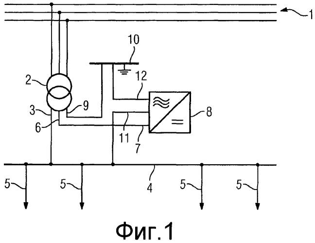 Устройство для подключения однофазной линии энергоснабжения к трехфазной сети энергоснабжения