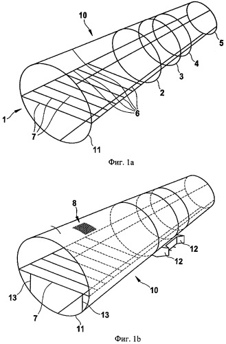 Фюзеляж самолета или космического летательного аппарата из гибридной конструкции углепластик/металл с металлической рамой