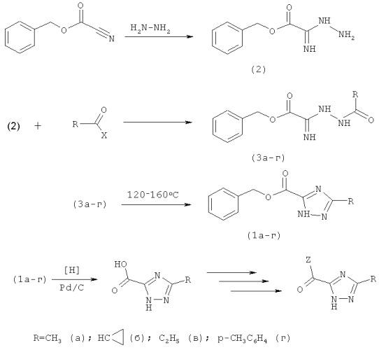 Способ получения 5-замещенных 1-н-1,2,4-триазол-3-карбоновых кислот и их производных