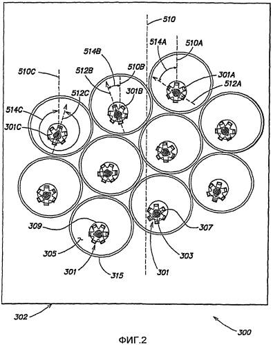 Способ и устройство для создания равномерного проекционного освещения