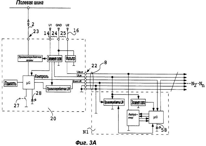 Система и способ управления устройствами, объединенными в сеть посредством открытой полевой шины