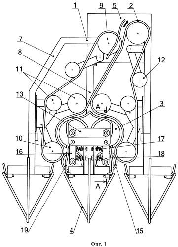 Теребильный аппарат льноуборочной машины