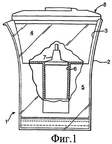 Перколяционная фильтрующая система со сменным картриджем, способ определения истощения сменного картриджа в фильтрующей системе и комплект, интегрирующий этот способ