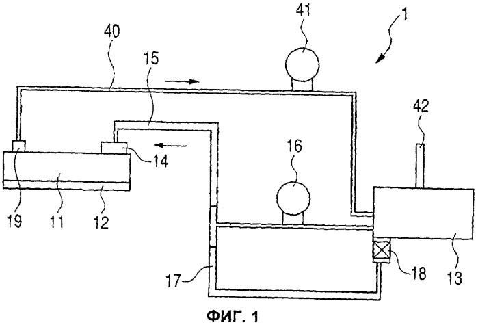Печатающее устройство, печатающая система и способ наполнения жидкостью
