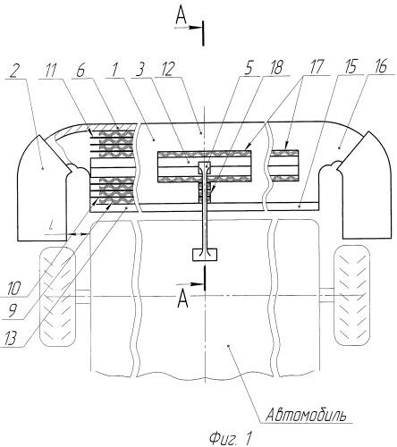 Бамперное защитное устройство