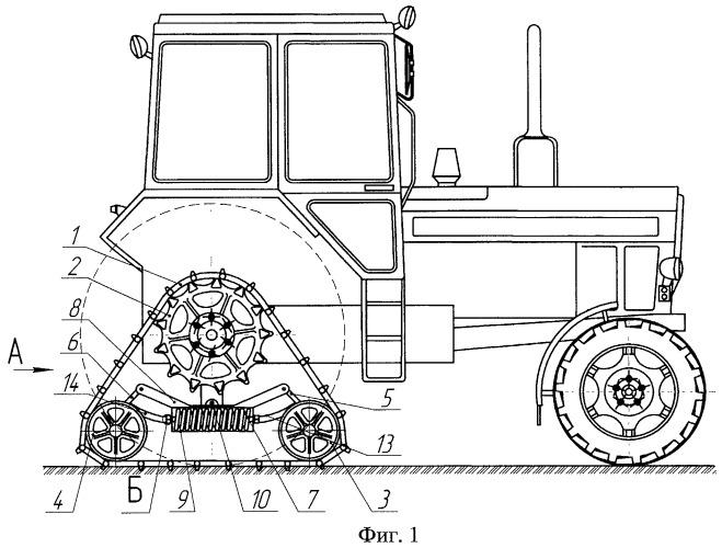 Тележка гусеничная сменная для транспортного средства