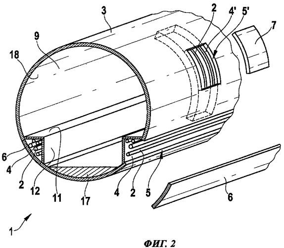 Конструкция для размещения магистральной системы в воздушном или космическом судне, имеющем фюзеляж