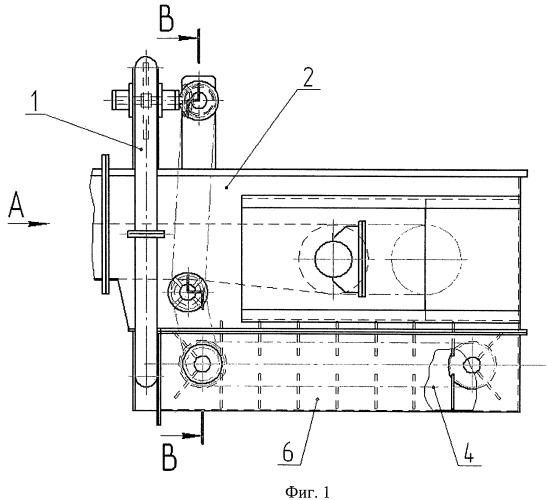 Устройство для очистки концевой секции ленточного конвейера