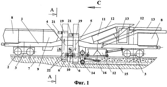 Машина для очистки балласта железнодорожного пути