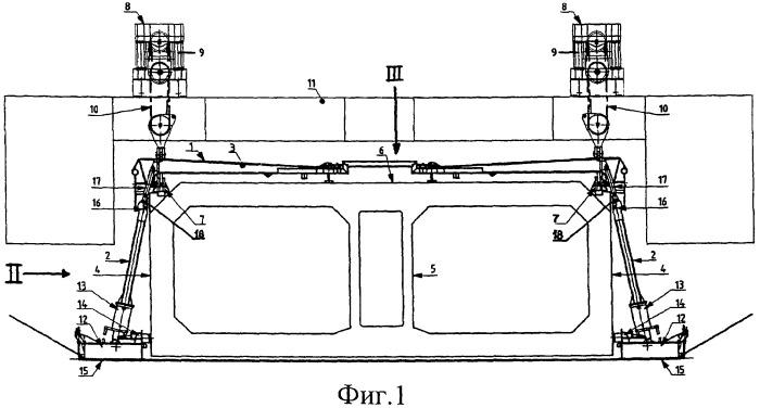 Устройство для позиционирования погружаемой туннельной секции